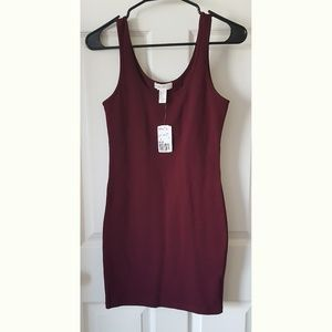 NWT Forever 21 Maroon Bodycon Dress